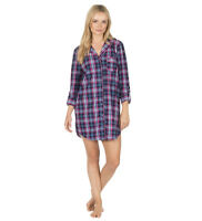Ladies Long Sleeve Check Night Shirt