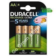 4 x Duracell AA 2500 mAh Rechargeable ULTRA Batteries, NiMH HR6 MN1500 Duralock
