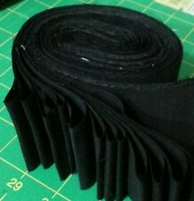 """Lot of 20-2.5"""" SOLID BLACK COLOR, strips, jelly roll, cotton fabric, SPRINGS"""