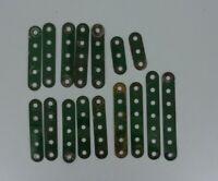 Vintage Meccano Spare Parts Standard Strip 3 hole 5 hole 6 hole 7 hole Green