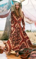NWT Spell and The Gypsy Collective Lolita 70's Rust Maxi Dress Gown Duster Sz M