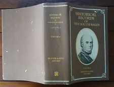 Historical Records of New South Wales Volume 4 Hunter & King 1800-1802 HBDJ