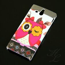 Sony Xperia U / ST25i Hard Case Handy Schutz Hülle Etui Cover Blink Eule Owl