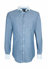 """Brand New With Tags Men's D&G Dolce & Gabbana Blue Chambray Shirt 16"""""""