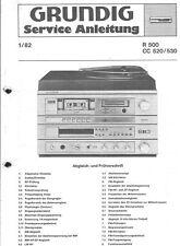 Grundig Original Service Manual für R 500 CC 520/530