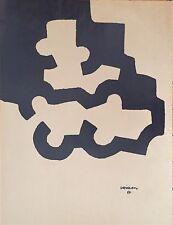 Chillida Eduardo affiche Lithographique art abstrait abstraction Sculpteur