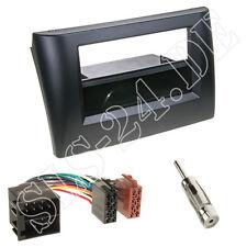 Fiat Stilo Autoradio 2-DIN Einbaurahmen Radioblende+Fach + ISO Adapterkabel Set