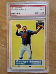 1956 Topps George Blanda PSA 5 EX