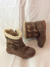 Girls Clarks Brown Suede Boots Size 6.5F