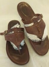 Mens TIMBERLAND Earthkeepers Brown Leather Thong Toe Post Sandals Size Uk 7