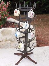 Fabulous Antique French Iron Bottle Drying Rack Turnstile Display - Unique