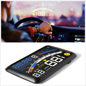 "Car OBDII/EOBD Head Up 5.5"" HD Gear Display Multi-function Value Speed Shift Mat"