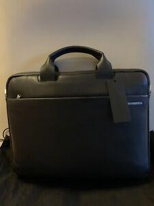 Porsche Design Tasche Briefbag Businesstasche Laptoptasche Leder Schwarz Neu