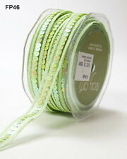 Sequin Centred Elastic Nylon Ribbon 6 Colours (13mm) per 2 Metres MultiList