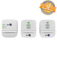 BT Mini Wi-Fi Home Hotspot 600 Powerline Multi Adapter Kit Pack of 3 in White