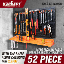 52pc Wall Mounted Tool Storage Rack Wrench Spanner Holder Screwdriver Pliers