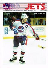 1987 Winnipeg Jets Home vs Calgary Flames NHL Hockey Program #83