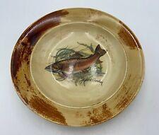 "ROBERT GORDON Pottery Australia TROUT Fish Bowl 9"" RARE #1 of 2"