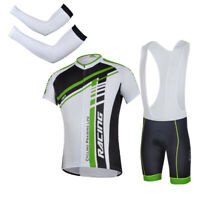 Cycling Jersey & Bib Shorts Sets Bike Bicycle Arm Sleeves Pro Cyclist Uniforms