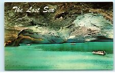 The Lost Sea World's Largest Underground Lake Tennessee Mountain Postcard D38