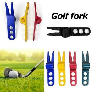 Repair Tight Golf Fork Tool Putting Green Magnetic Spring Pitch Ball Mark UK