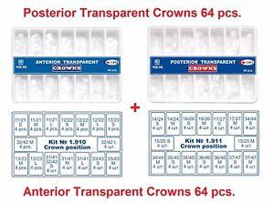2 Lot x 64pc Dental Anterior Posterior Clear Transparent Crowns Matrices Matrix