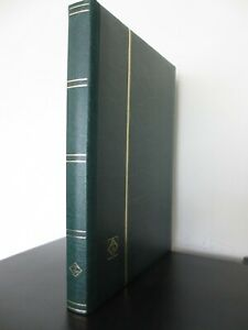 LIGHTHOUSE GREEN QUALITY STAMP ALBUM STOCKBOOK 16 BLACK PAGES 32 SIDES VGC