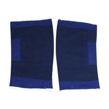 Fitting Stretchy Black Blue Knee Sleeve Support Protector 2 Pcs P6P8
