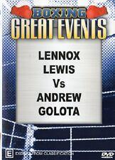 LENNOX LEWIS VS ANDREW GOLOTA + GATTI VS RUELAS & DORSEY VS CHAVEZ BOXING DVD