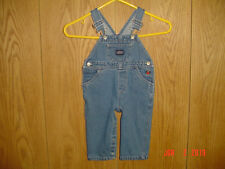 Carter'S Embroidered Teddy Bear Blue Jean Denim Bib Overalls 12-18 Months Fc228