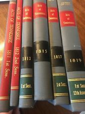1811-1819 Acts of the State of Tennessee Antique Law Books General Assembly