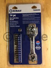 Kobalt 87092 14-Pc SAE & Metric Mechanic's Tool Set Mini Multi-Drive Wrench NEW