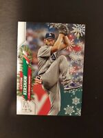 2020 Topps Holiday Candy Cane Clayton Kershaw SSP