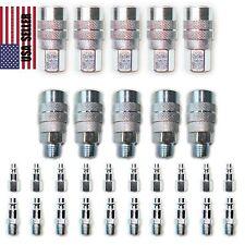 30 pc Heavy Duty Quick Coupler Set Air Hose Connector Fittings 1/4 NPT Plug