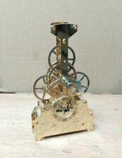 Skeleton Clock Movement Quartz Battery Gold Tone No Dial (for parts) STEAMPUNK