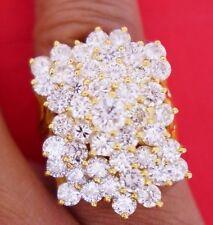 Ladies Huge Diamond Ring 10 Ct Diamonds SI1 10k Yellow Gold Gorgeous Video DEal