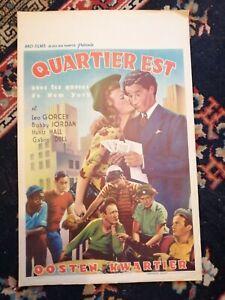 Let's Get Tough Original Belgian Movie Poster Affiche 1942