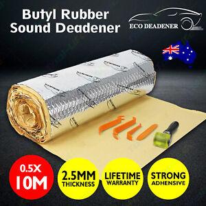 10M Butyl Sound Deadener Roll 30% THICKER Sound Proofing vs dynamat pingjing AU