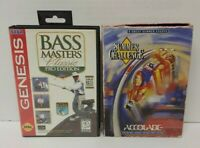 Bass Masters Fishing + Summer Challenge Sega Genesis Games Working 2 Game Lot  !