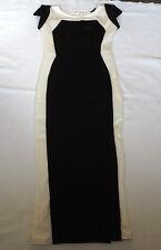 "BNWOT TFNC LONDON BLACK & WHITE LONG MAXI BODYCON PENCIL DRESS CHEST 32"" 81cm"