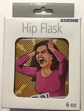 HIP FLASK Put Some Fun In 'Dysfunctional! Stainless Steel  Hip Flask  New In Box
