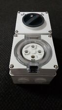 4 pin 32A Combination Switch IP66 3 Phase Outlet Weatherproof