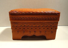 Vintage Morocan Leather Jewelry Box