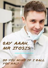 Halitosis - Aah, Mr Hal Itosis... ~ Rude Medical Doctor Card ~ Potty Mouth Cards
