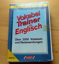 Atari ST:  Vokabel Trainer Englisch Box mit zwei Disks und Handbuch