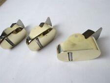 "3pcs ""hill"" Style Brass Mini,finger planes (2pcs convex bottom+1pcs flat bottom)"