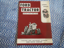 FORD TRACTOR SERIES 600 AND 800 TRACTORS OWNERS OPERATORS MANUAL
