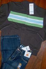 Jeans Set Gymboree Classic Dark Brown Jacket 2pc Boy size 3 years New