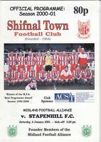 Shifnal Town v Stapenhill FC 2000/1 (6 Jan) Midland Alliance