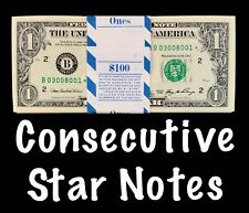 2006 New York 1$ Consecutive Star Notes From BEP Strap Replacement Notes UNC B10
